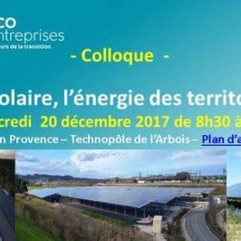 Colloque – Le solaire, l'énergie des territoires